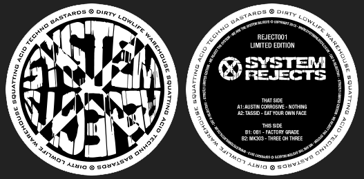System Rejects 001 Vinyl – SOLD OUT